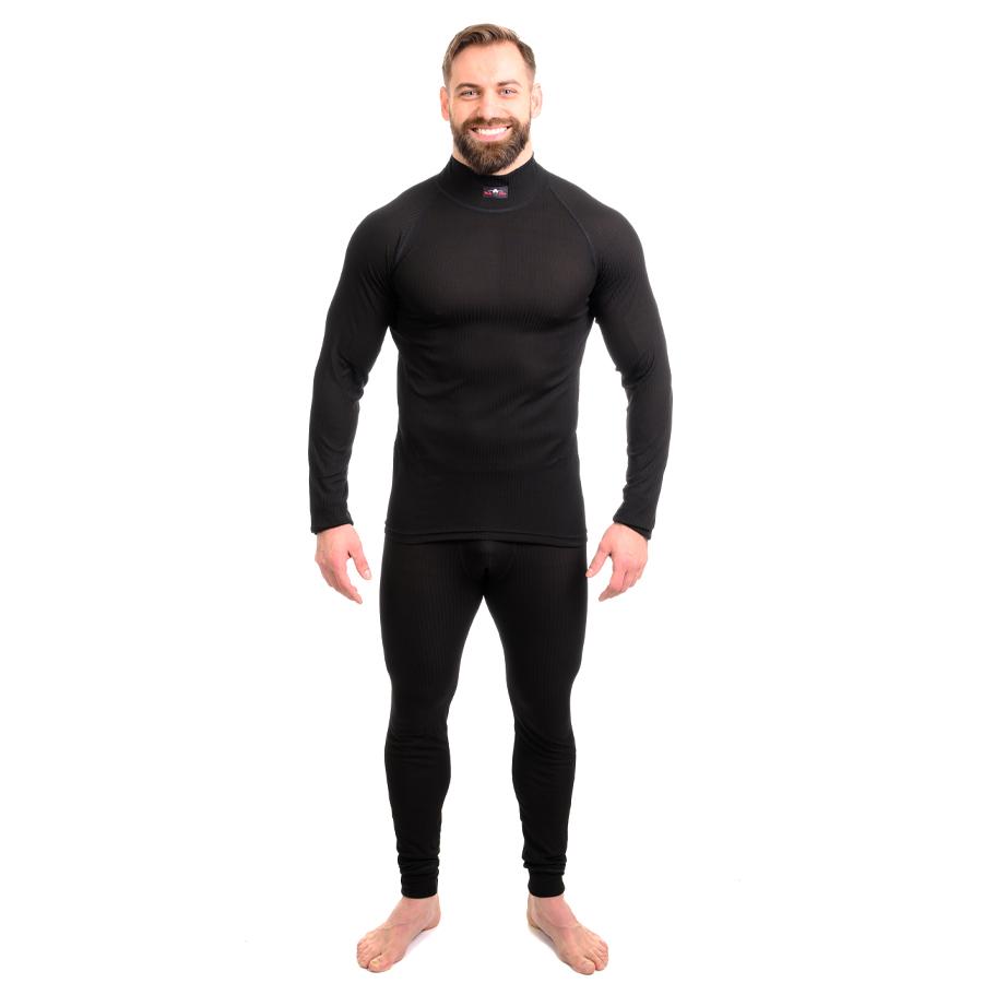 Moto Jitka - Termo triko comfort s dl. rukávem pánské černé