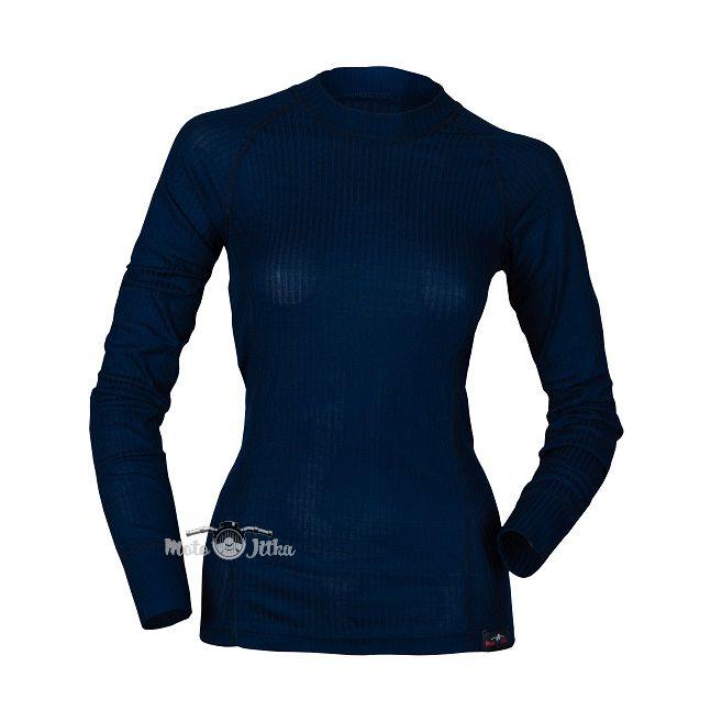 Moto Jitka - Dámské triko Comfort dlouhý rukáv modré