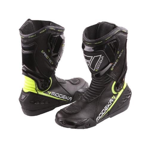 Modeka - Motocyklová obuv Speed Tech - Černá/Neon