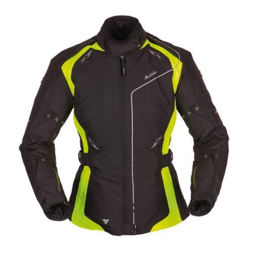 Modeka - Motocyklová bunda Scarlett Lady - Černá-neon