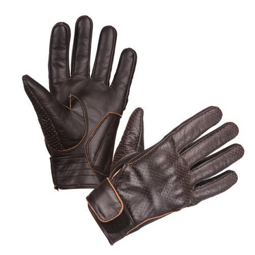 Modeka - Motocyklové rukavice Hot Classic hnědé
