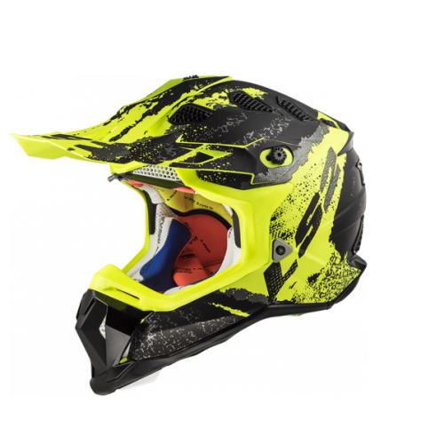 LS2 - Off-roadová helma LS2 MX470 SUBVERTER CLAW MATT BLACK HI VIS