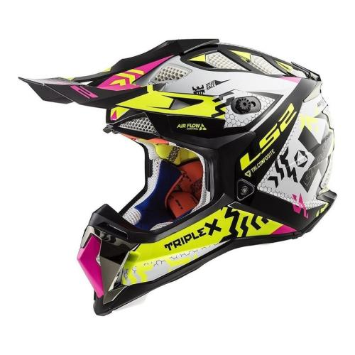 LS2 - Přilba LS2 MX470 SUBVERTER Black Pink H-V Yellow