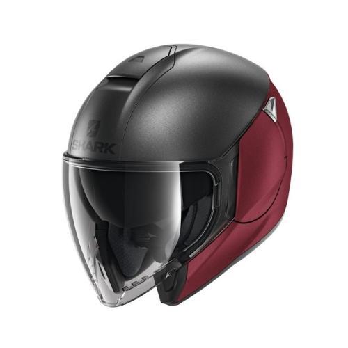 Modeka - Motocyklová helma CityCruiser šedá/červená