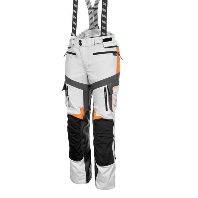 Rukka - Cestovní kalhoty Roughroad - Bílá/Oranžová Gore-Tex