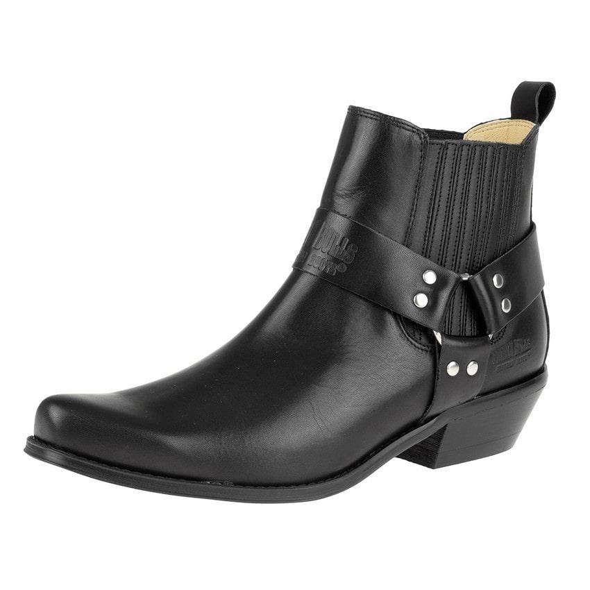 Johnny Bulls - Westernová obuv Nappa Black 394