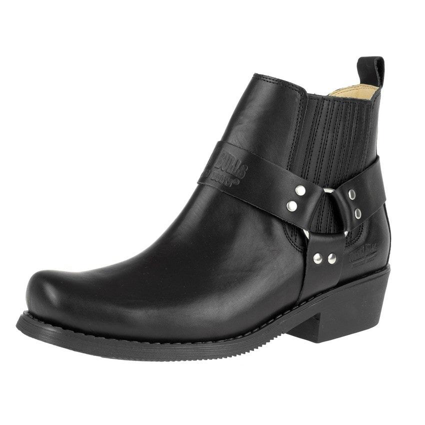 Johnny Bulls - Westernová obuv Nappa Black 4809