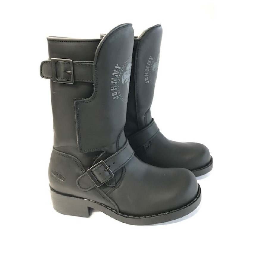 Johnny Bulls - Motocyklová obuv Sprinter black 7871 broušená kůže  - Černé