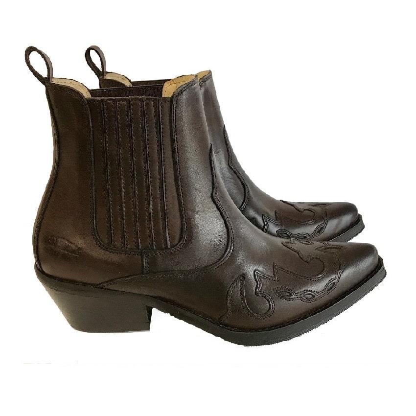 Johnny Bulls - Westernová obuv  Autolucido Brown 9636