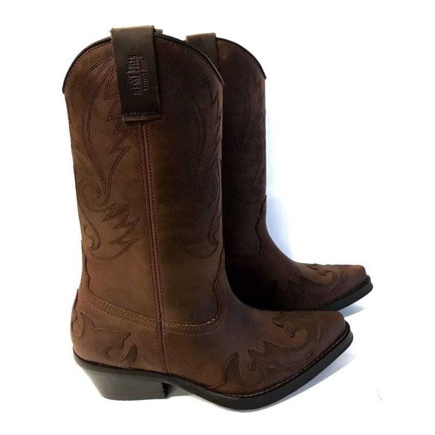 Johnny Bulls - Westernová obuv  Sprinter: hnědá broušená kůže  382