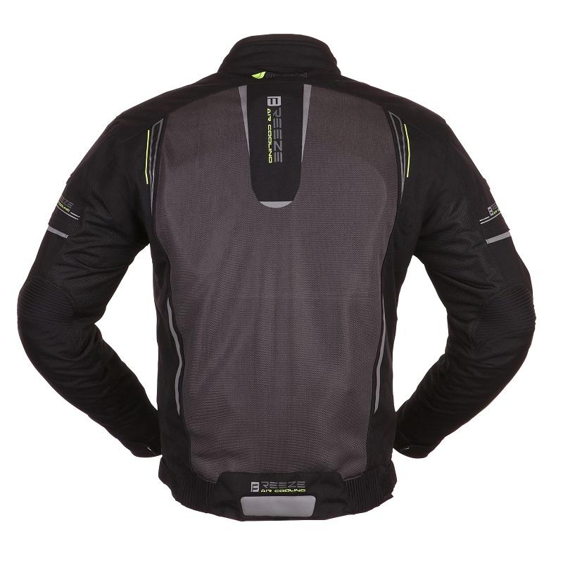 Modeka - Motocyklová letní bunda Breeze - Černá/Neon