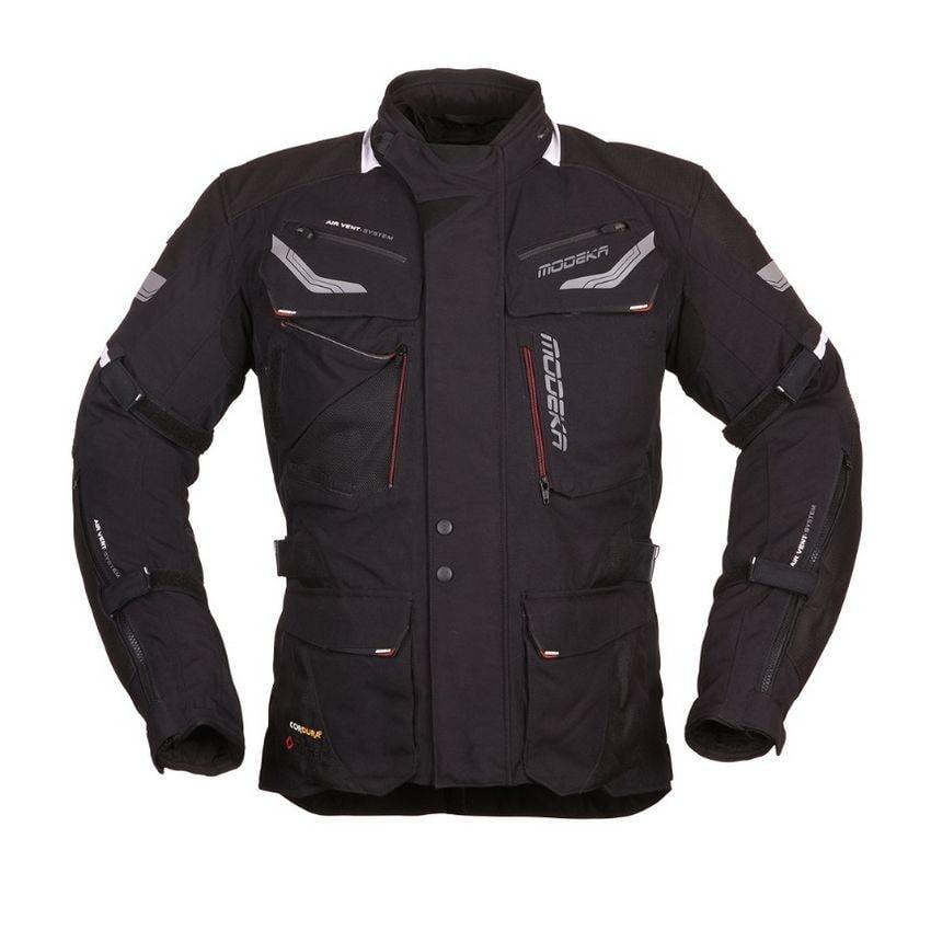 Modeka - Cestovní bunda Chekker - Černá