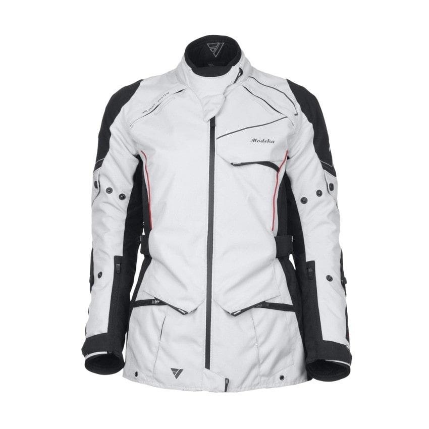 Modeka - Motocyklová bunda Sienna Lady - světle šedá