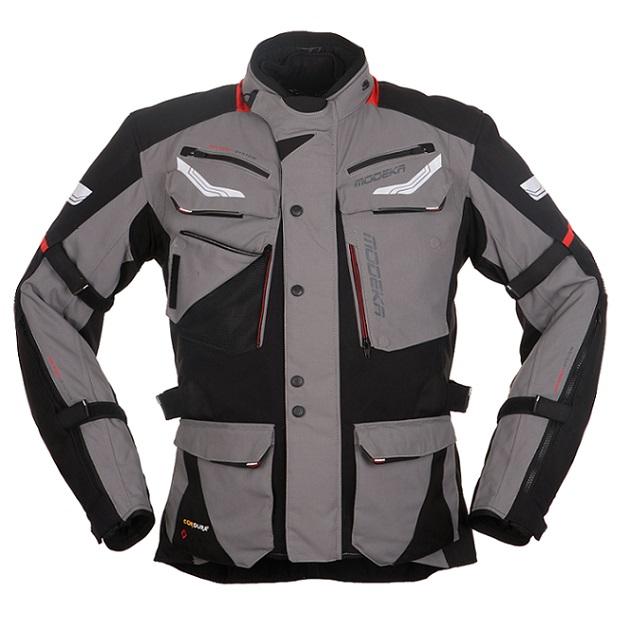 Modeka - Motocyklová bunda Chekker  šedá