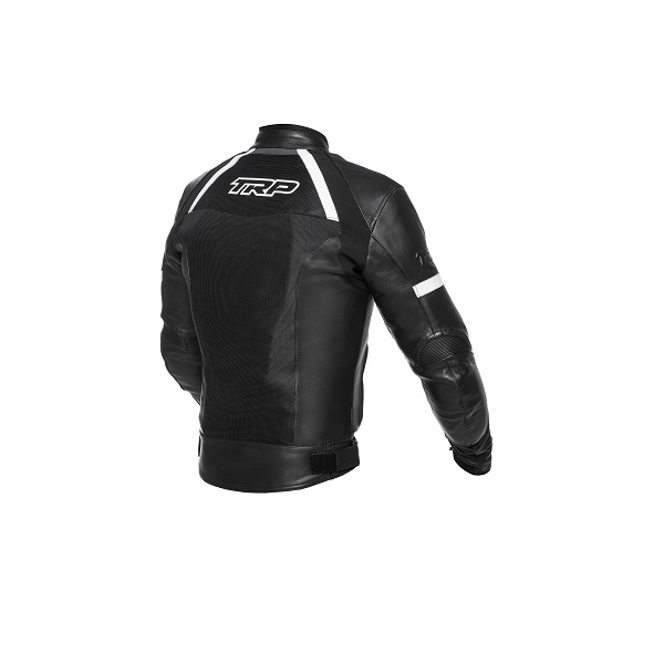 TRP - Motocyklová kožená bunda Cooler - Černá/Bílá
