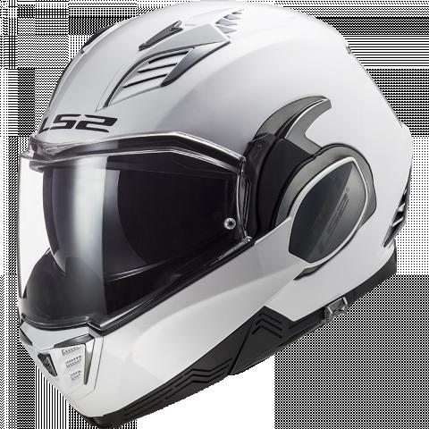 LS2 - Motocyklová výklopná helma FF900 II bílá