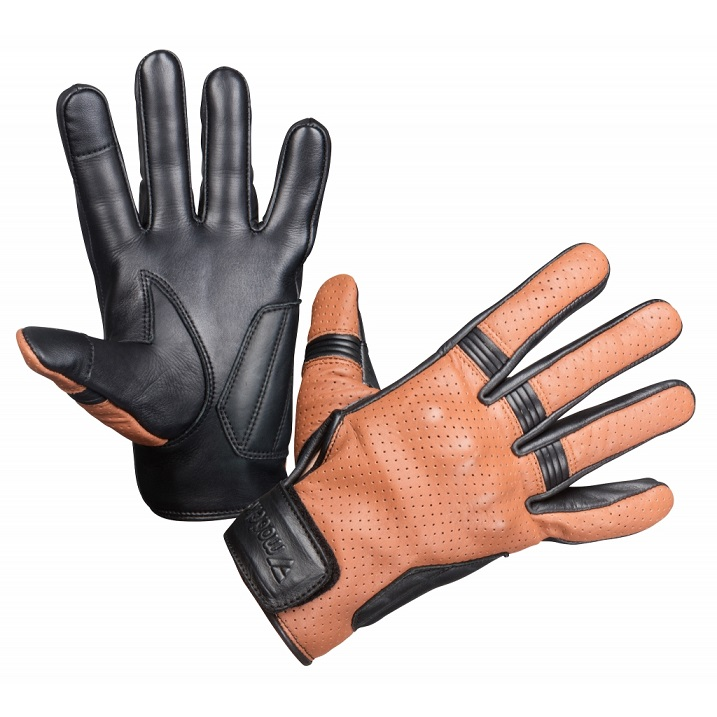 Modeka - Moto rukavice Hot Two hnědé