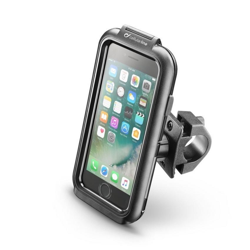 Interphone - Voděodolné pouzdro Interphone pro Apple iPhone 6/6S/7/8, úchyt na řídítka, černé
