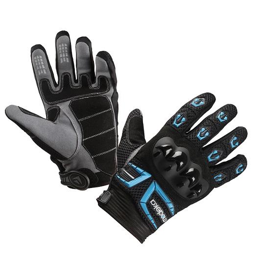 Modeka - Motocyklové rukavice MX TOP černá/modrá