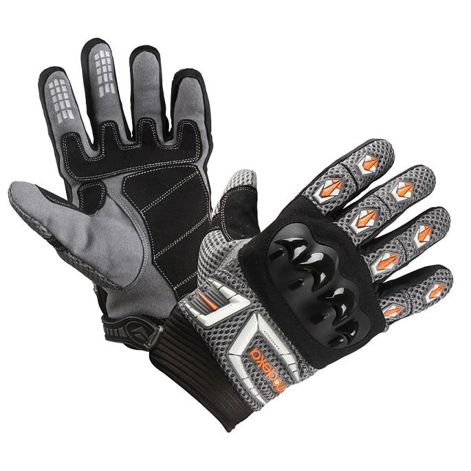 Modeka - Motocyklové rukavice MX top oranžové
