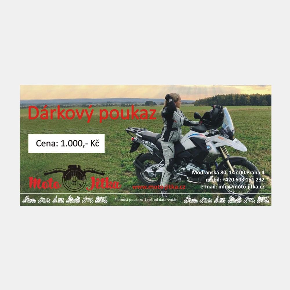 Moto Jitka - Poukaz 1000Kč