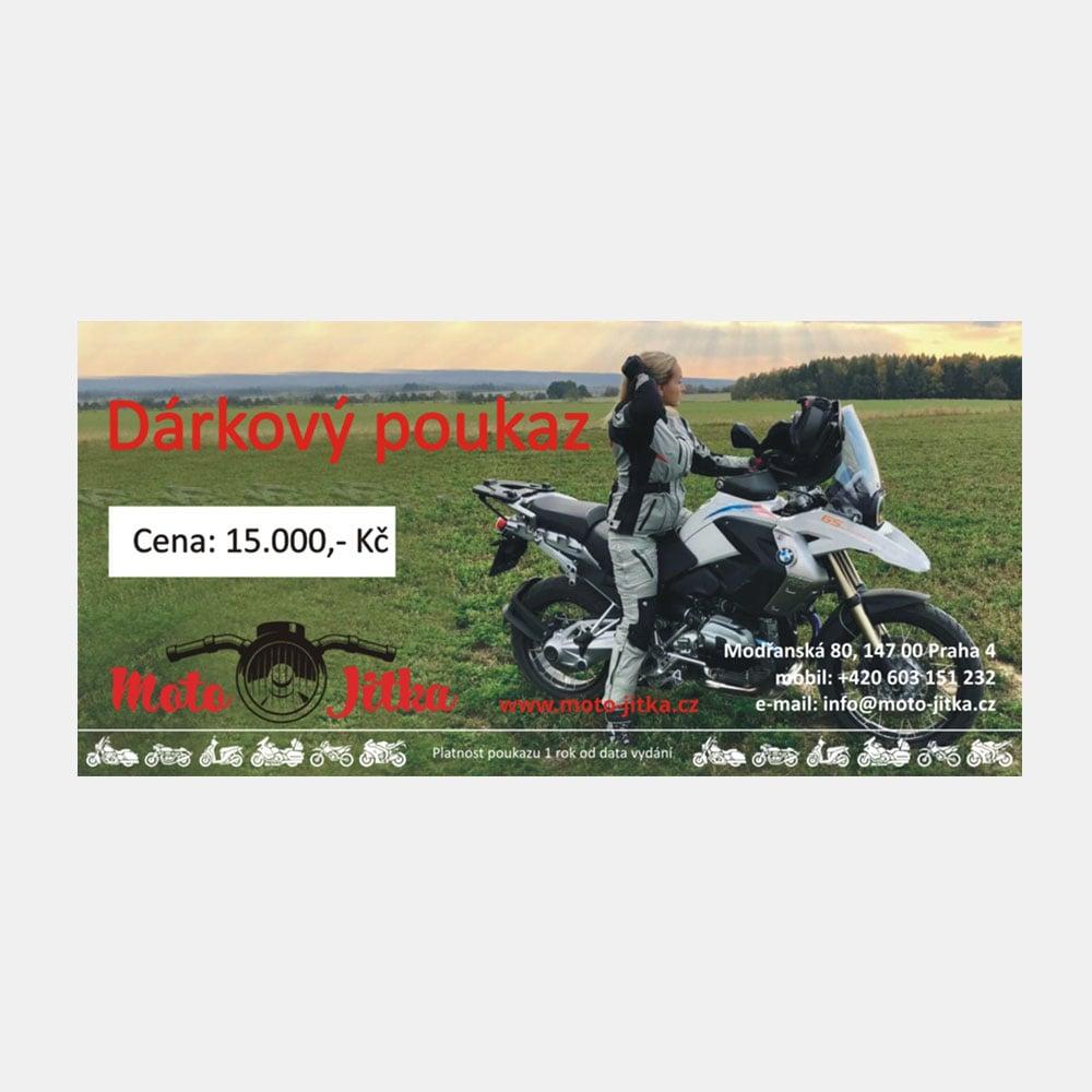 Moto Jitka - Poukaz 15000Kč