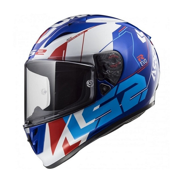 LS2 - FF323 ARROW R TECHNO WHITE BLUE