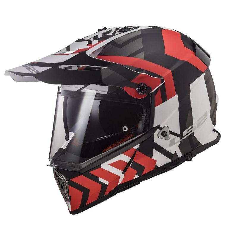 LS2 - Enduro přilba MX436 PIONEER XTREME MATT BLACK RED