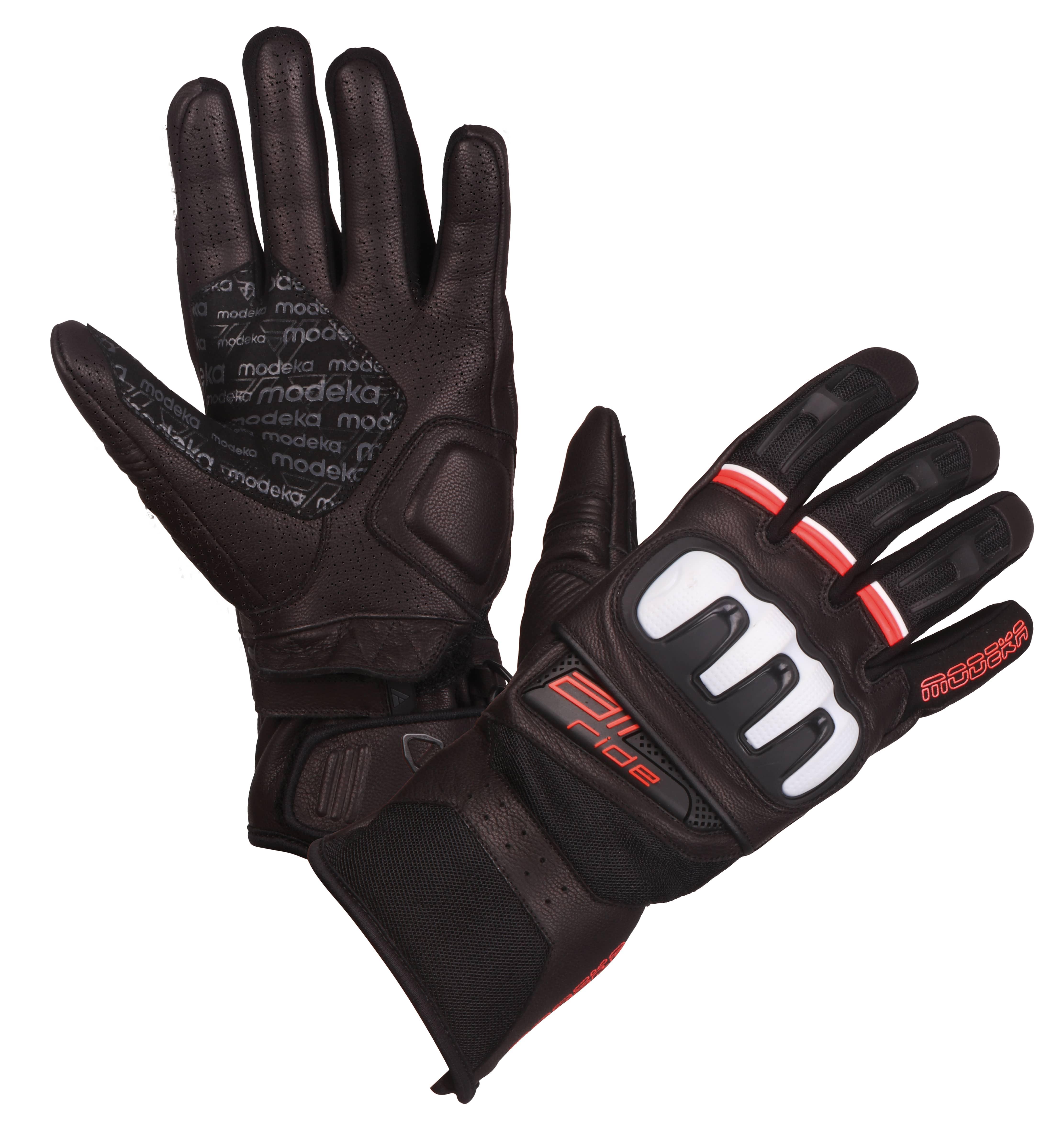 Modeka - Motocyklové rukavice Air Ride - Černá/Červená