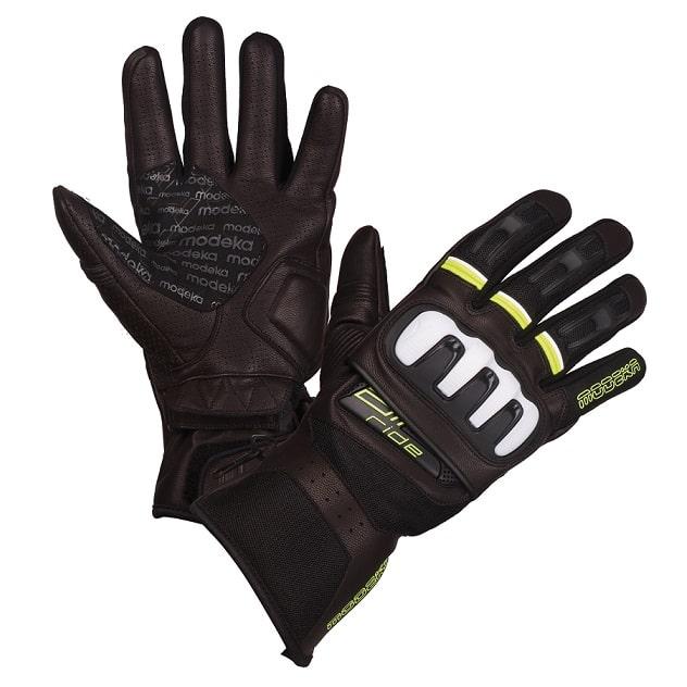 Modeka - Cestovní rukavice Air Ride - Černá/Neon