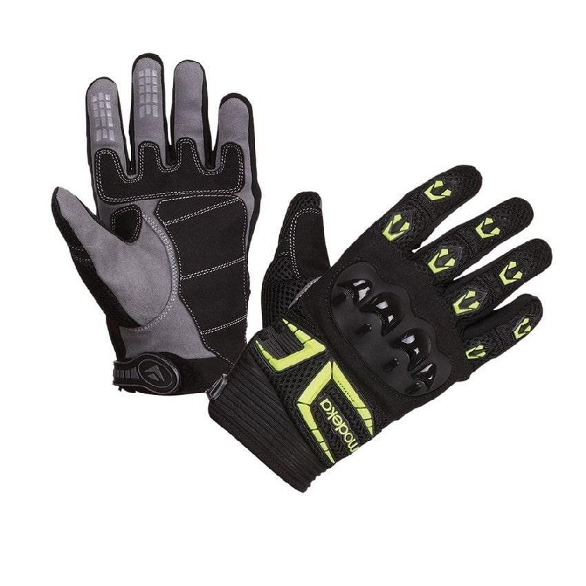 Modeka - Cestovní rukavice MX TOP - Černá/Neonová
