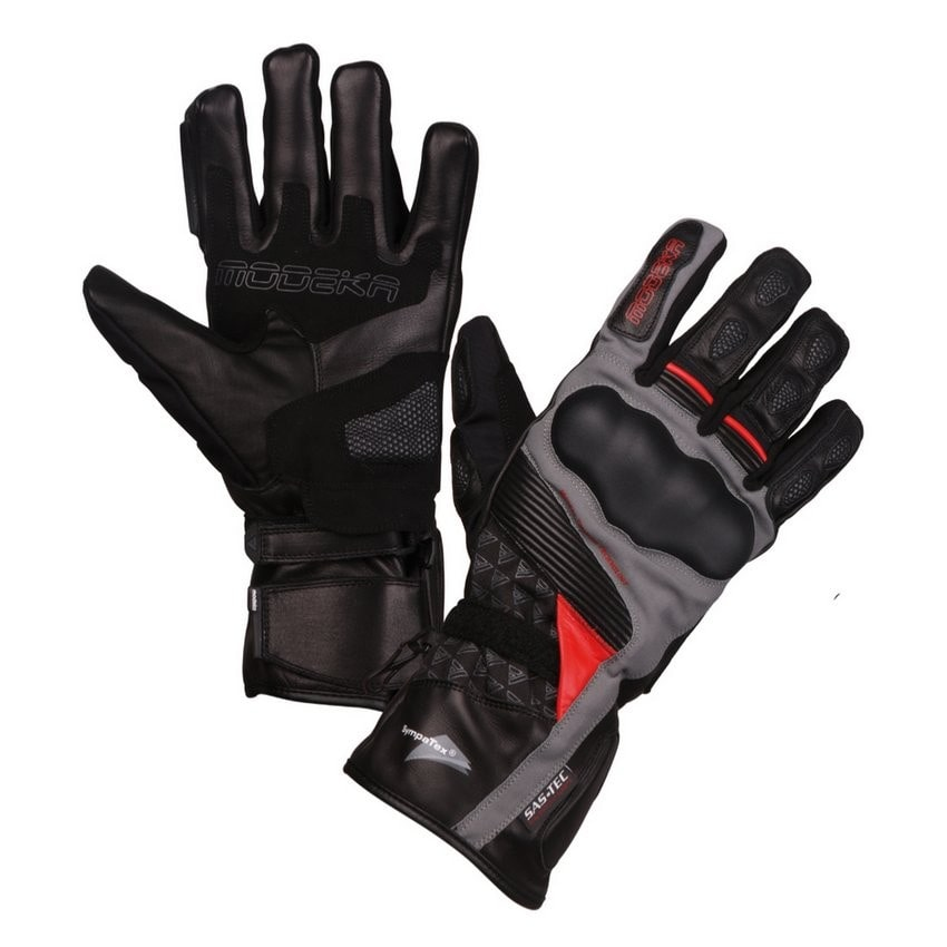 Modeka - Cestovní rukavice Panamericana  černá/červená