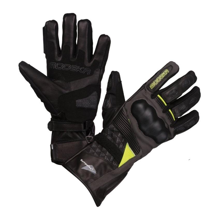 Modeka - Cestovní rukavice Panamericana  černá/neon