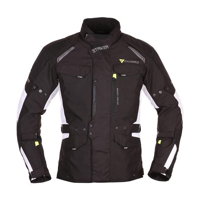 Modeka - Motocyklová bunda Striker - Černá/Bílá