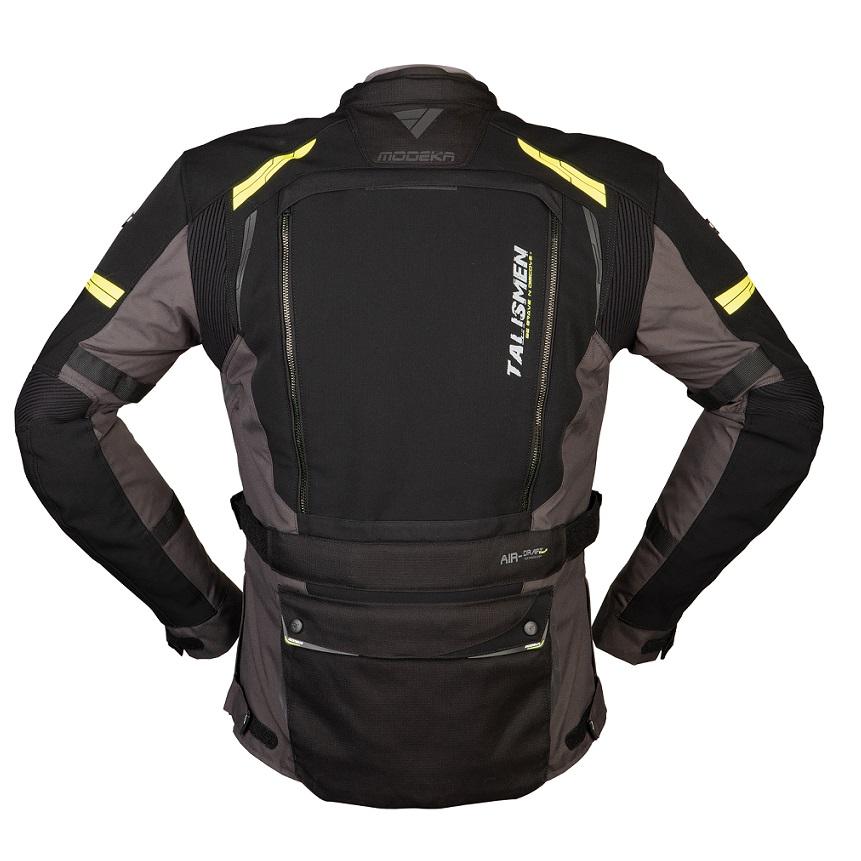 Modeka - Cestovní bunda Talismen černá/žlutá