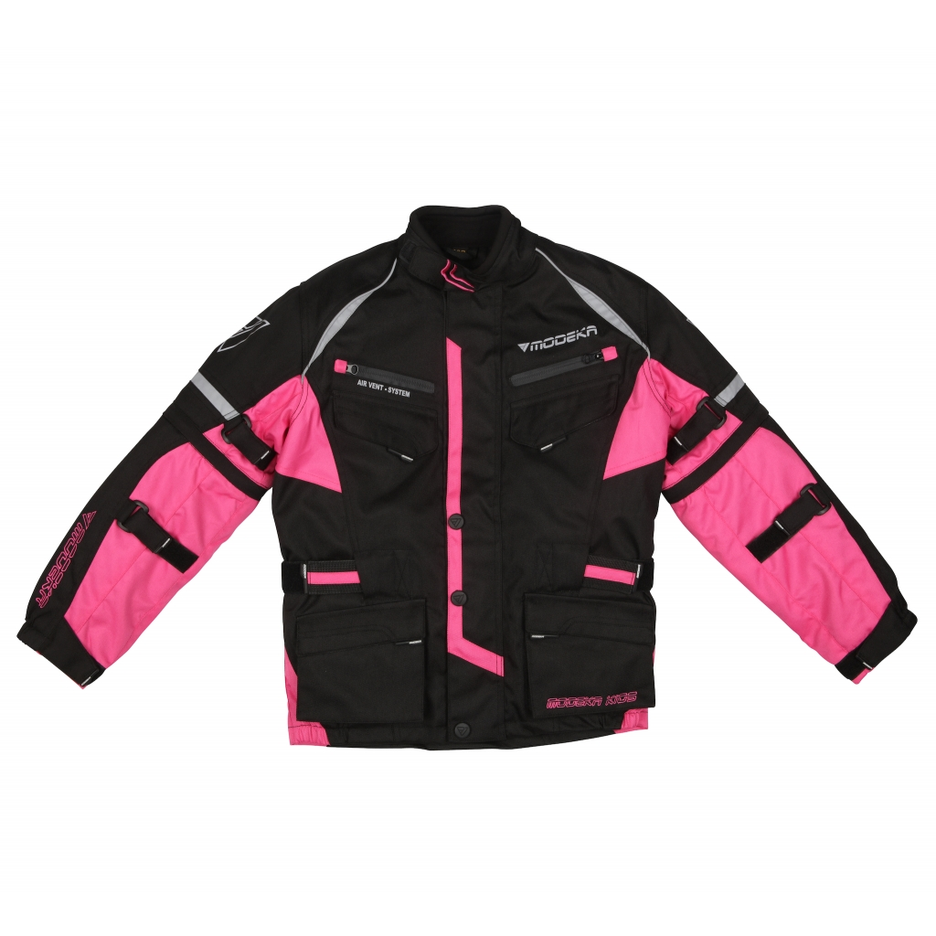 Modeka - Motocyklová dětská bunda Tourex II růžová