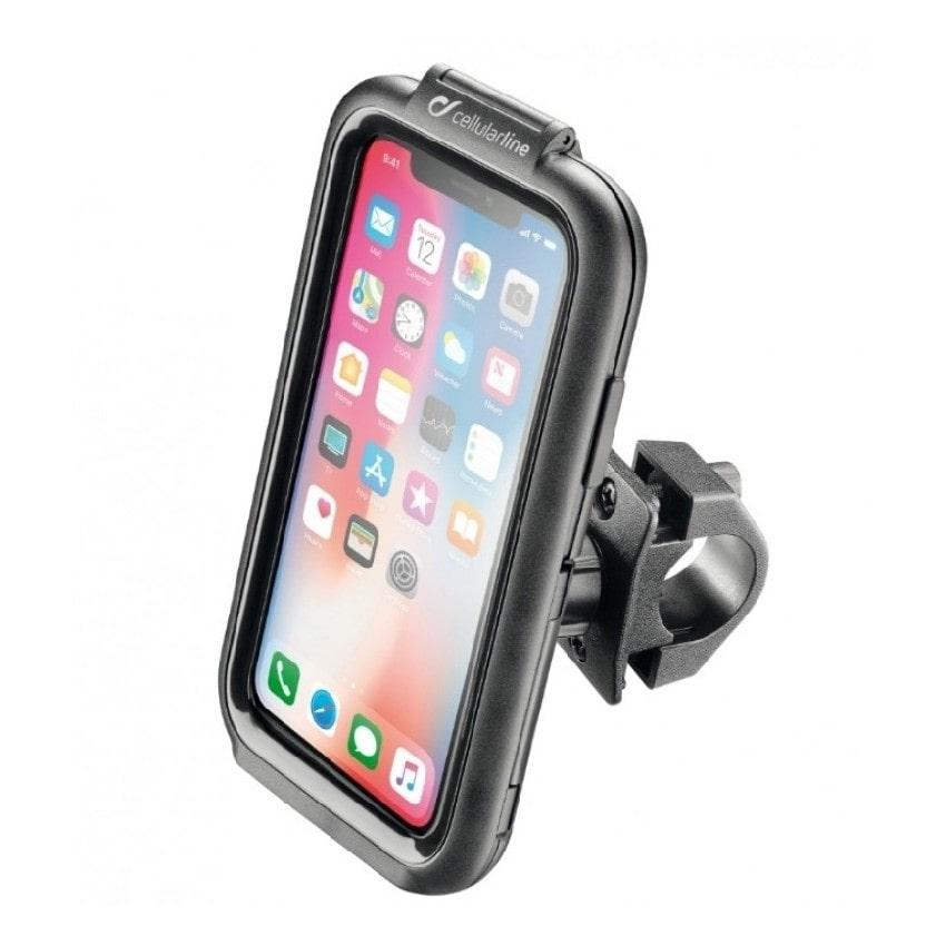 Interphone - Voděodolné pouzdro pro Apple iPhone X/XS úchyt na řídítka - Černé