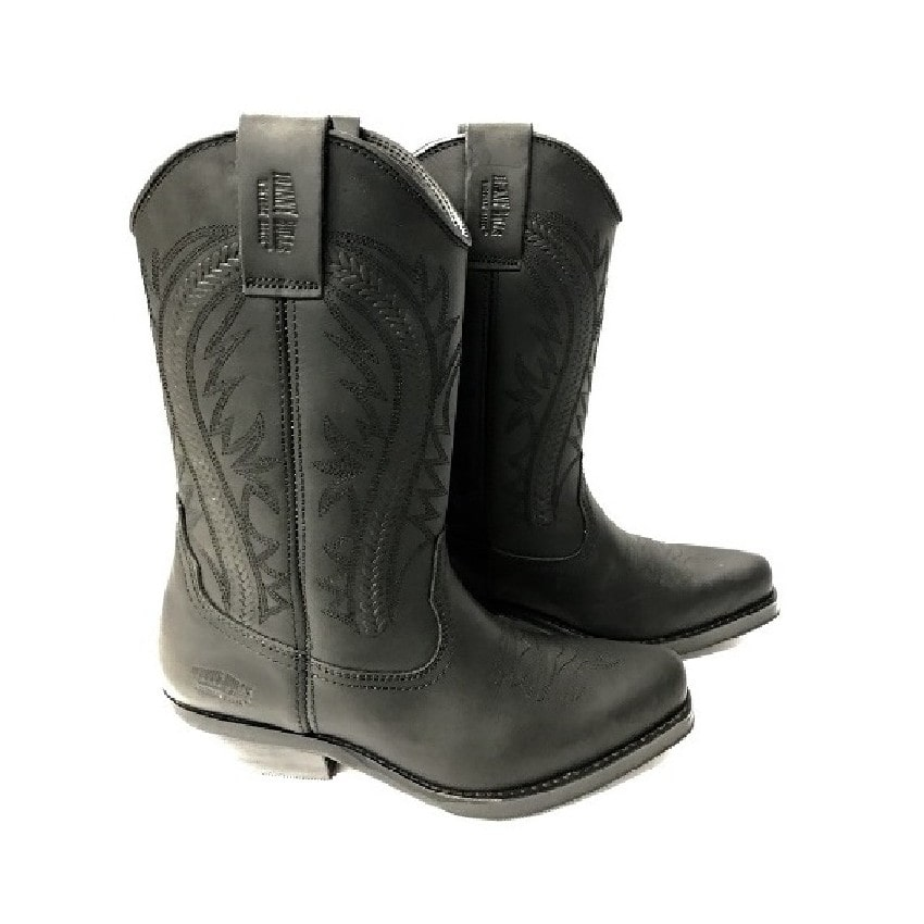 Johnny Bulls - Westernová obuv Nappa Black 381